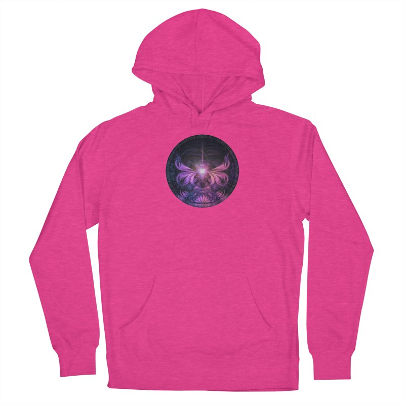 A Glowmoth of Resplendent Violet Feathered Wings Women's Pullover Hoody by The Fractal Art of San Jaya Prime
