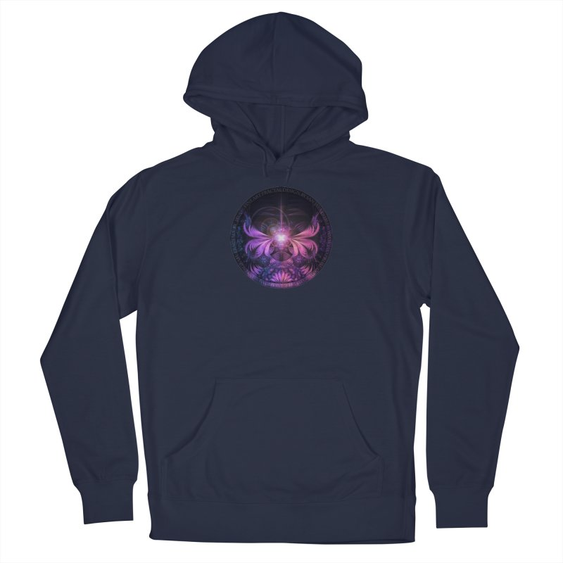 A Glowmoth of Resplendent Violet Feathered Wings Men's Pullover Hoody by The Fractal Art of San Jaya Prime