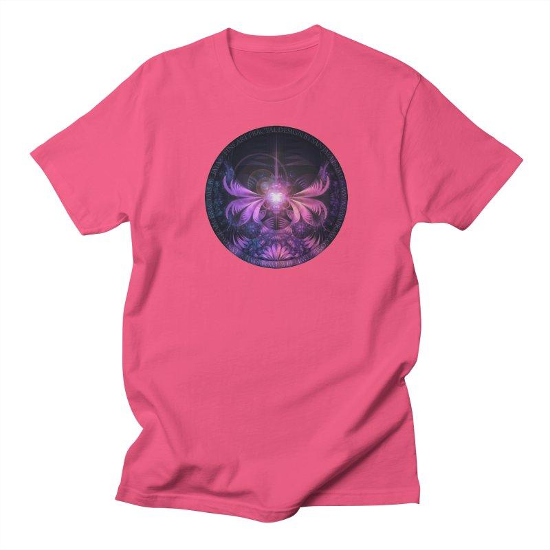 A Glowmoth of Resplendent Violet Feathered Wings Women's Regular Unisex T-Shirt by The Fractal Art of San Jaya Prime