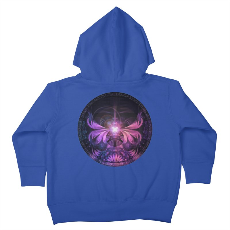 A Glowmoth of Resplendent Violet Feathered Wings Kids Toddler Zip-Up Hoody by The Fractal Art of San Jaya Prime