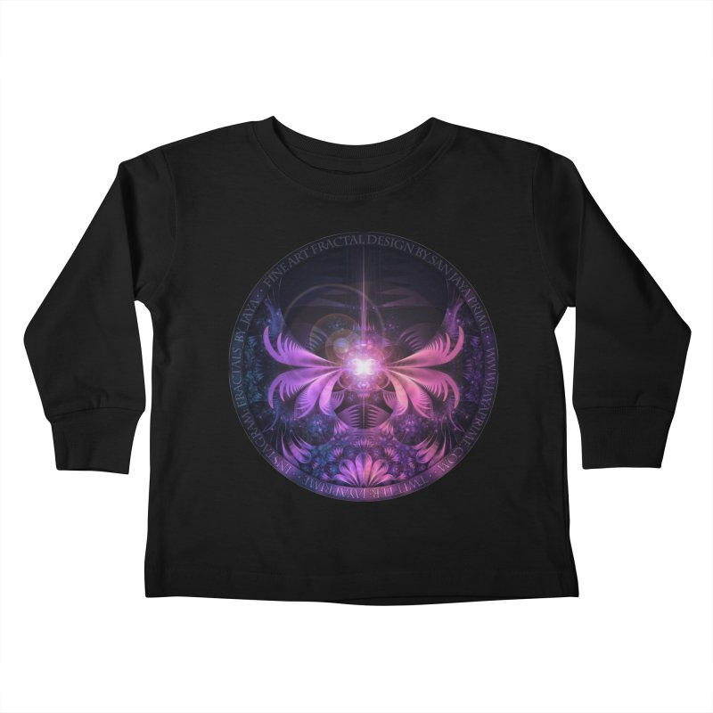 A Glowmoth of Resplendent Violet Feathered Wings Kids Toddler Longsleeve T-Shirt by The Fractal Art of San Jaya Prime