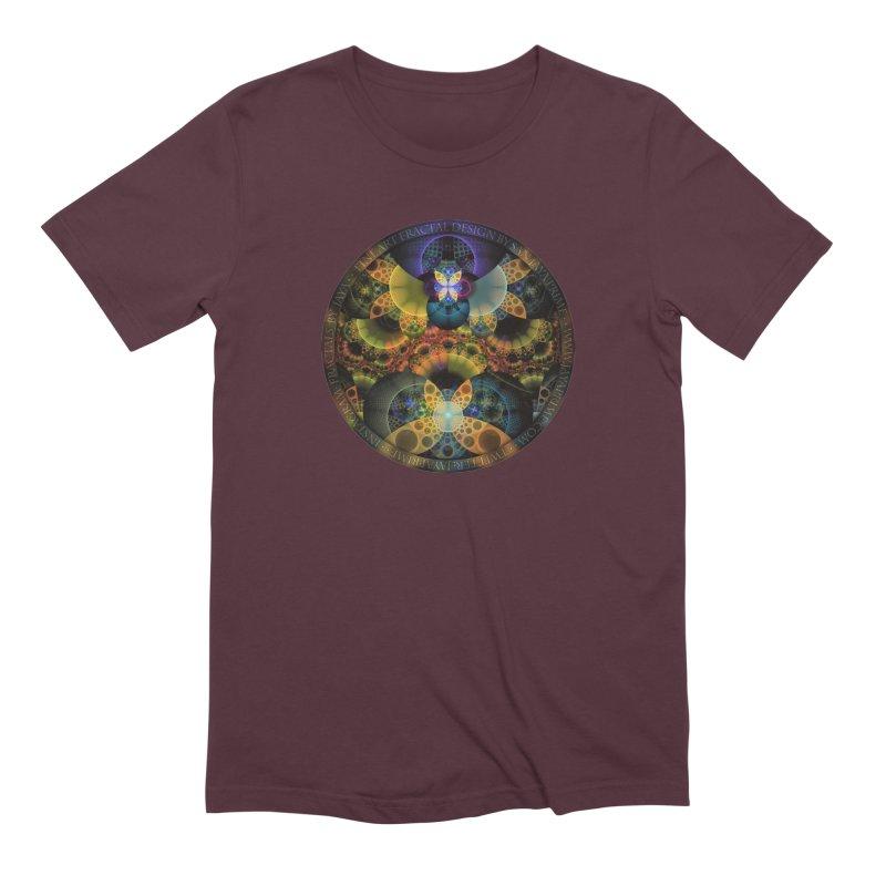 Autumn Butterfly Nexus of Amazing Fractal Colors Men's Extra Soft T-Shirt by The Fractal Art of San Jaya Prime
