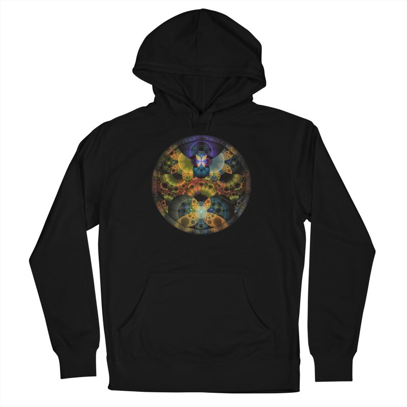 Autumn Butterfly Nexus of Amazing Fractal Colors Women's French Terry Pullover Hoody by The Fractal Art of San Jaya Prime