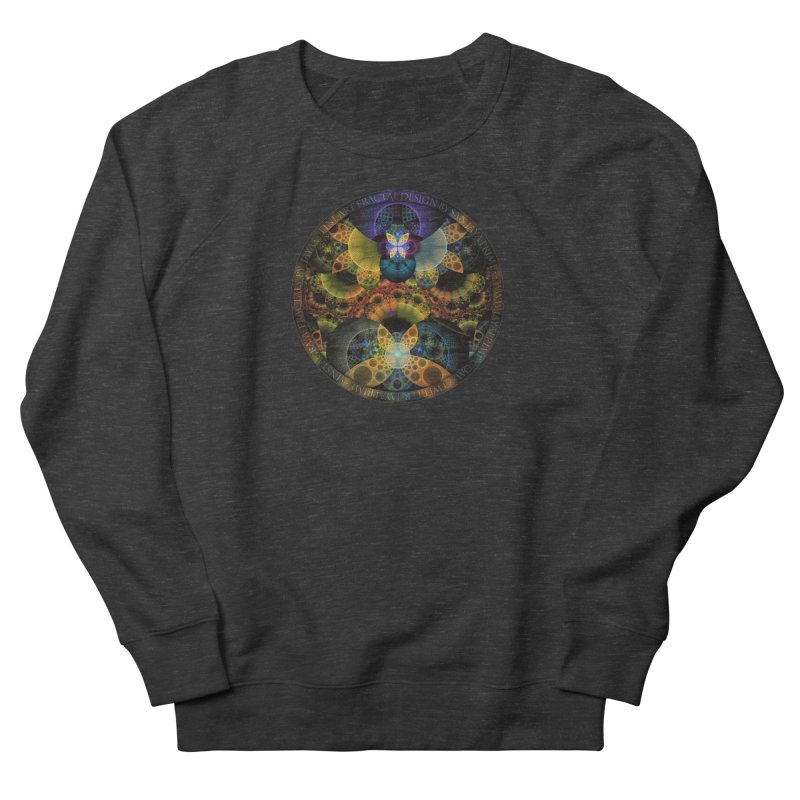 Autumn Butterfly Nexus of Amazing Fractal Colors Women's French Terry Sweatshirt by The Fractal Art of San Jaya Prime