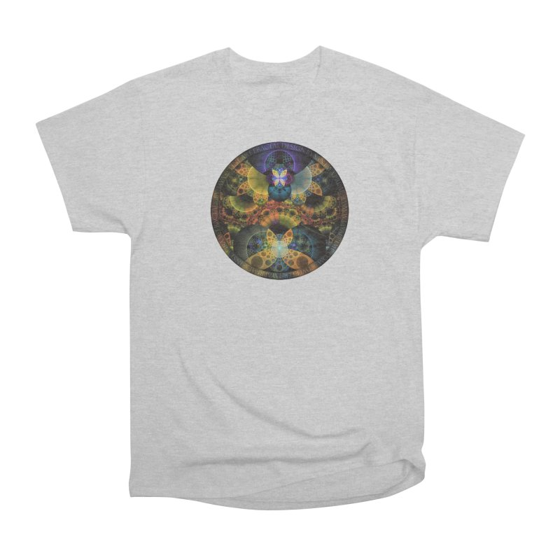 Autumn Butterfly Nexus of Amazing Fractal Colors Men's Heavyweight T-Shirt by The Fractal Art of San Jaya Prime
