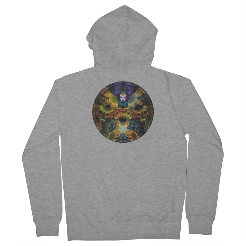 Autumn Butterfly Nexus of Amazing Fractal Colors Women's French Terry Zip-Up Hoody by The Fractal Art of San Jaya Prime