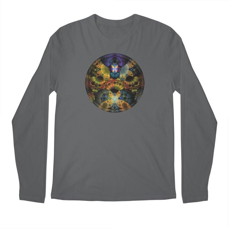Autumn Butterfly Nexus of Amazing Fractal Colors Men's Longsleeve T-Shirt by The Fractal Art of San Jaya Prime
