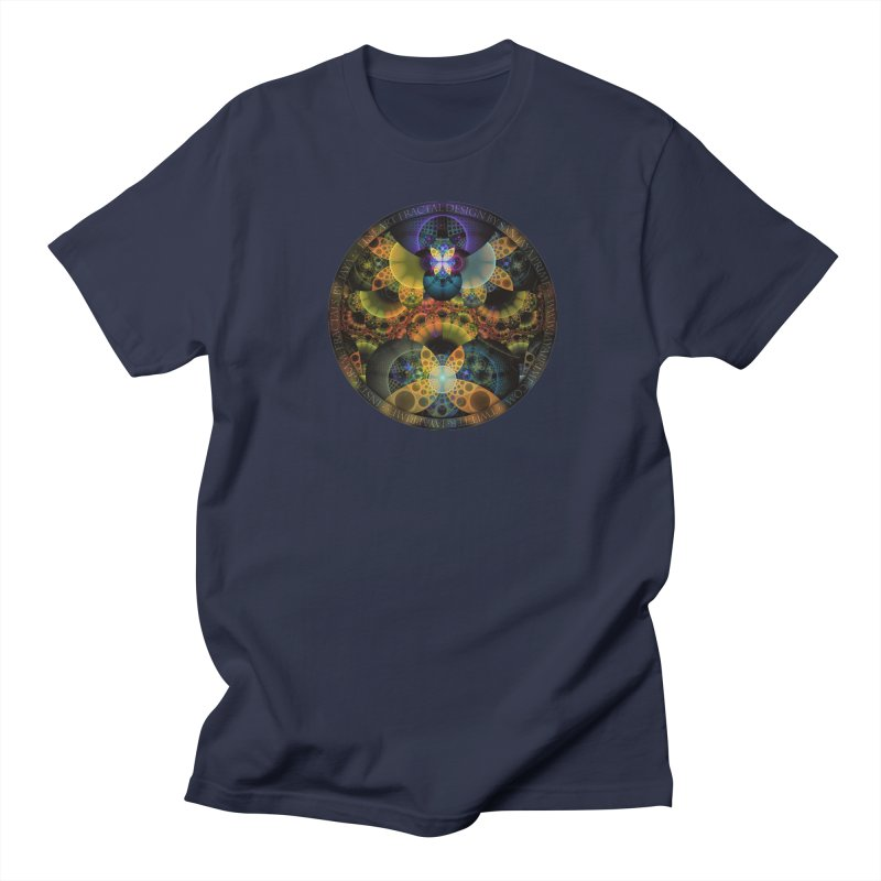 Autumn Butterfly Nexus of Amazing Fractal Colors Women's Regular Unisex T-Shirt by The Fractal Art of San Jaya Prime