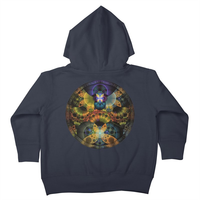 Autumn Butterfly Nexus of Amazing Fractal Colors Kids Toddler Zip-Up Hoody by The Fractal Art of San Jaya Prime