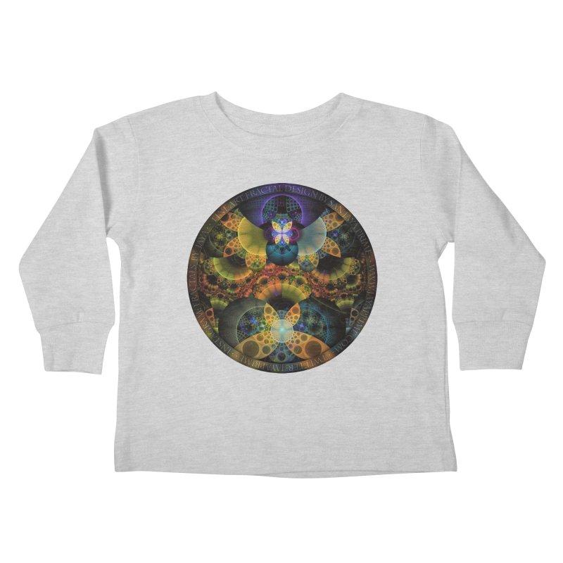 Autumn Butterfly Nexus of Amazing Fractal Colors Kids Toddler Longsleeve T-Shirt by The Fractal Art of San Jaya Prime