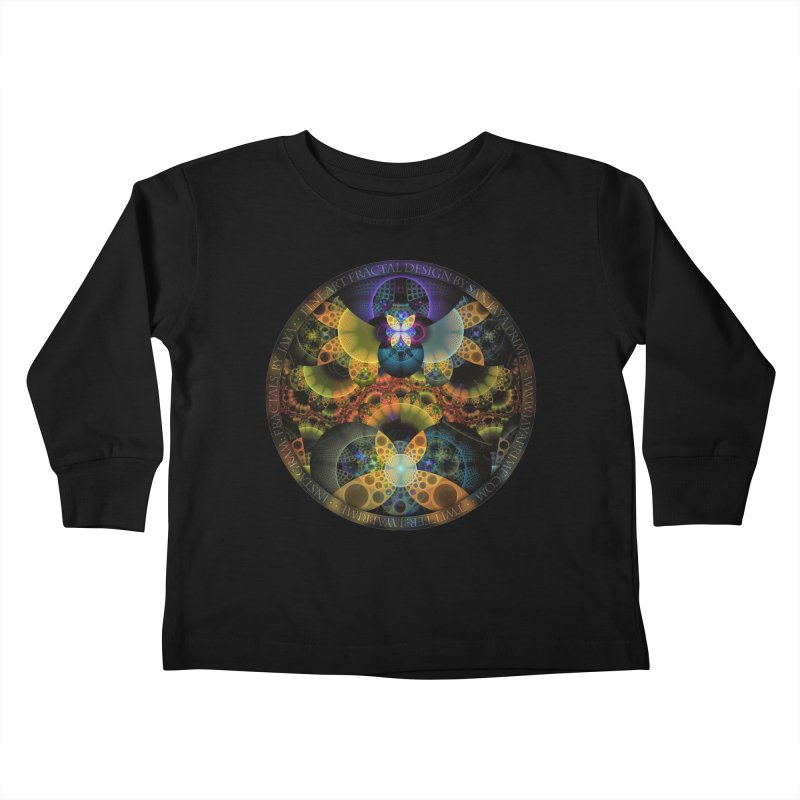 Autumn Butterfly Nexus of Amazing Fractal Colors Kids Toddler Longsleeve T-Shirt by The Fractal Art of San Jaya Prime