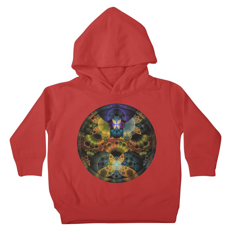 Autumn Butterfly Nexus of Amazing Fractal Colors Kids Toddler Pullover Hoody by The Fractal Art of San Jaya Prime