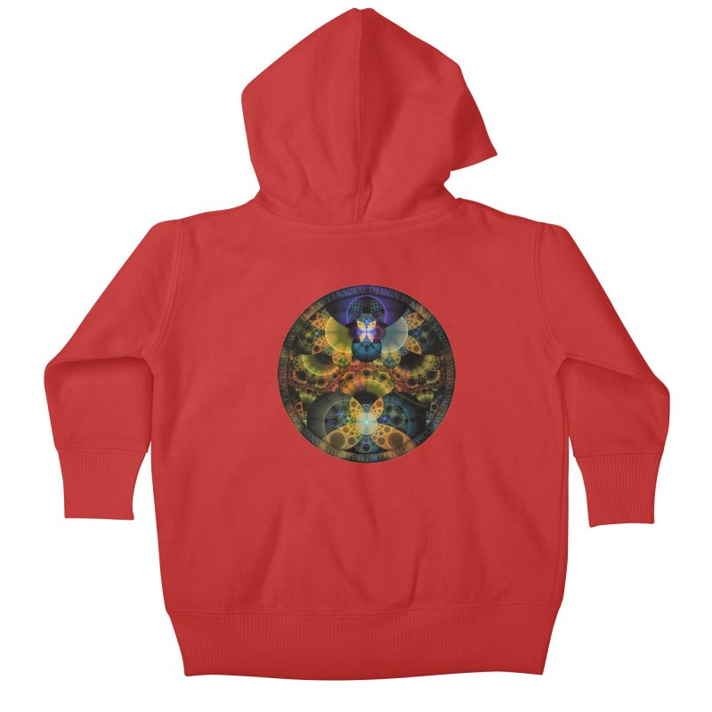 Autumn Butterfly Nexus of Amazing Fractal Colors Kids Baby Zip-Up Hoody by The Fractal Art of San Jaya Prime