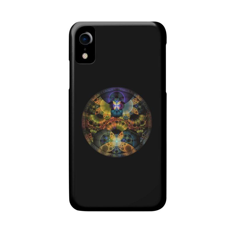 Autumn Butterfly Nexus of Amazing Fractal Colors Accessories Phone Case by The Fractal Art of San Jaya Prime
