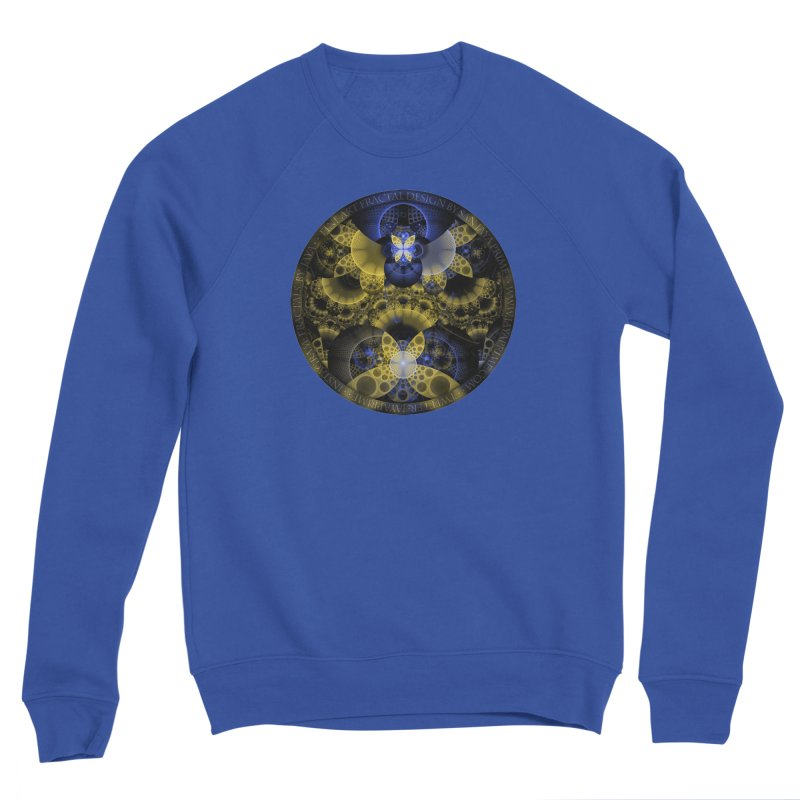 Nexus of Fractal Butterflies Seen Thru Puppy Eyes Men's Sweatshirt by The Fractal Art of San Jaya Prime