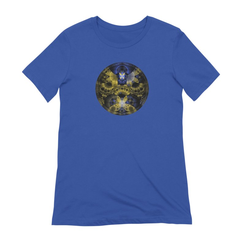 Nexus of Fractal Butterflies Seen Thru Puppy Eyes Women's Extra Soft T-Shirt by The Fractal Art of San Jaya Prime