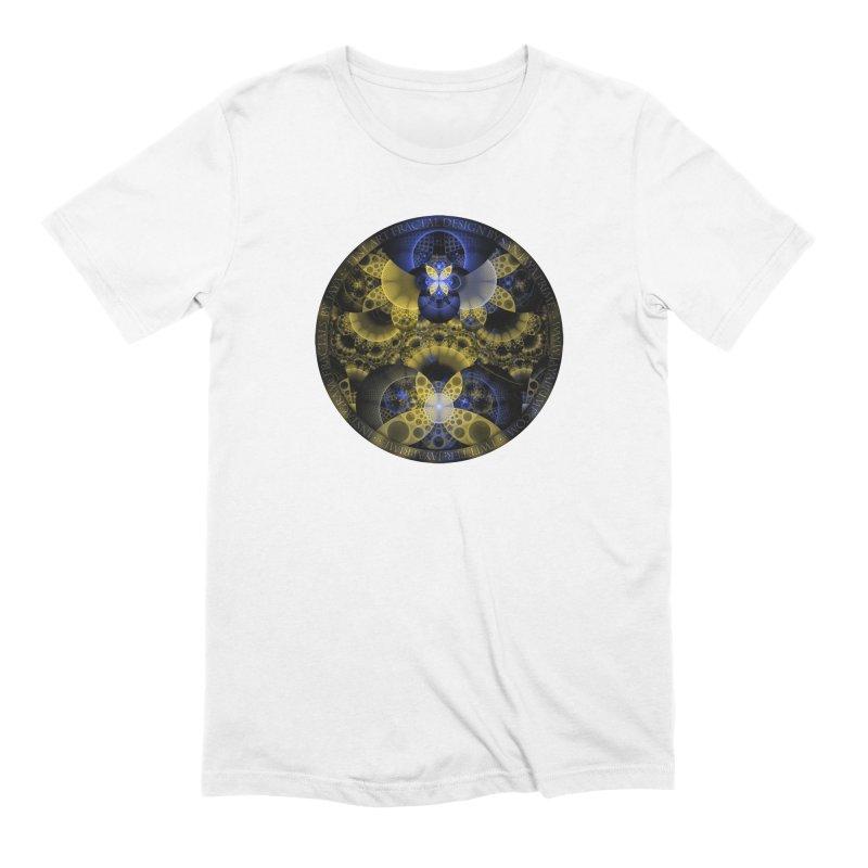 Nexus of Fractal Butterflies Seen Thru Puppy Eyes Men's Extra Soft T-Shirt by The Fractal Art of San Jaya Prime
