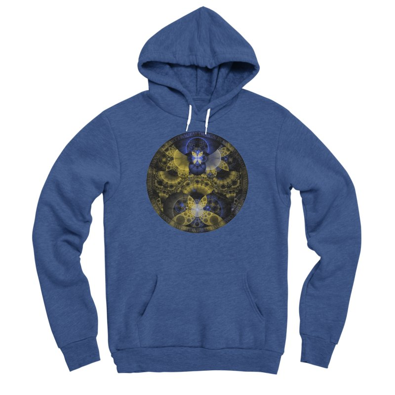 Nexus of Fractal Butterflies Seen Thru Puppy Eyes Women's Sponge Fleece Pullover Hoody by The Fractal Art of San Jaya Prime