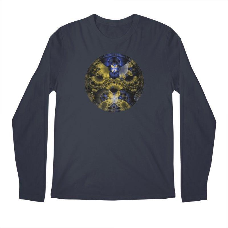 Nexus of Fractal Butterflies Seen Thru Puppy Eyes Men's Longsleeve T-Shirt by The Fractal Art of San Jaya Prime