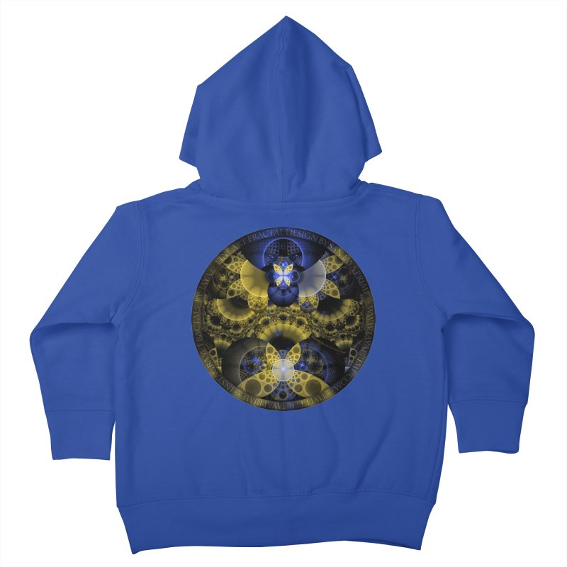 Nexus of Fractal Butterflies Seen Thru Puppy Eyes Kids Toddler Zip-Up Hoody by The Fractal Art of San Jaya Prime