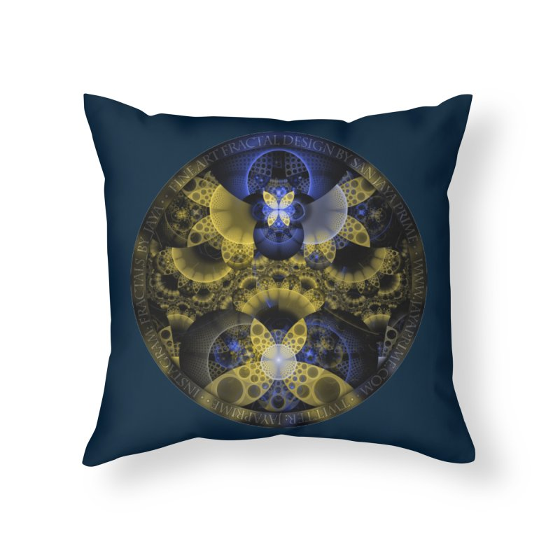 Nexus of Fractal Butterflies Seen Thru Puppy Eyes Home Throw Pillow by The Fractal Art of San Jaya Prime