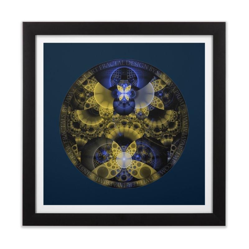 Nexus of Fractal Butterflies Seen Thru Puppy Eyes Home Framed Fine Art Print by The Fractal Art of San Jaya Prime