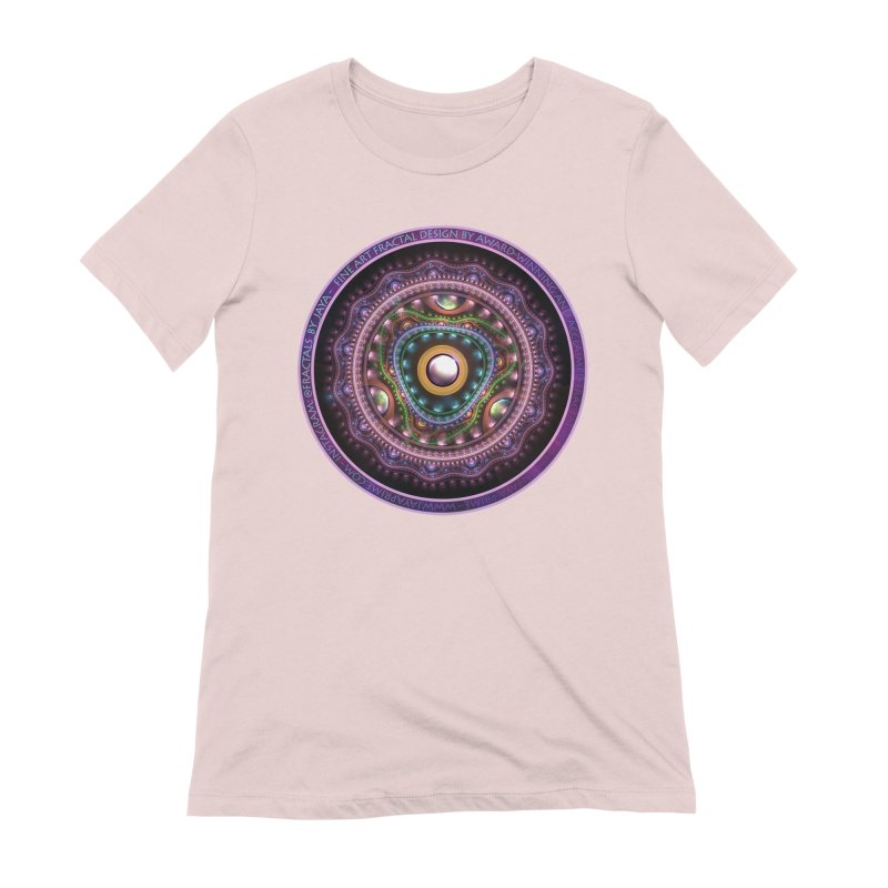 Resplendent Pastel Jewelry in Rainbow Fractals Women's Extra Soft T-Shirt by The Fractal Art of San Jaya Prime