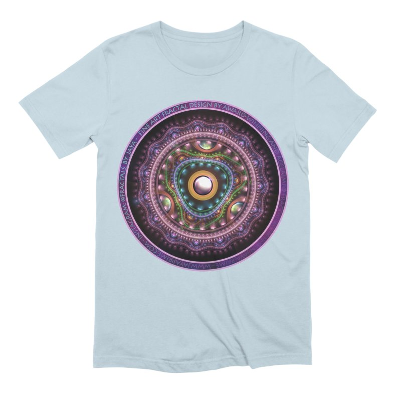 Resplendent Pastel Jewelry in Rainbow Fractals Men's Extra Soft T-Shirt by The Fractal Art of San Jaya Prime