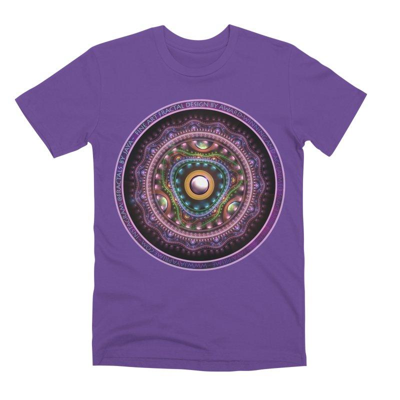 Resplendent Pastel Jewelry in Rainbow Fractals Men's T-Shirt by The Fractal Art of San Jaya Prime