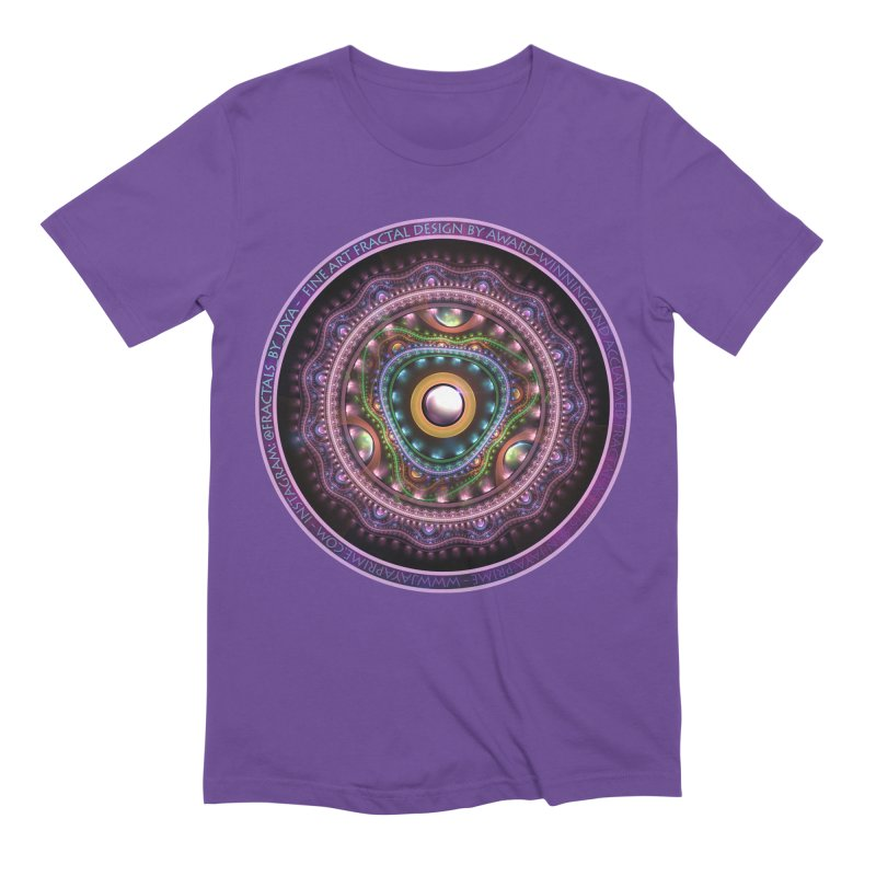Resplendent Pastel Jewelry in Rainbow Fractals Men's Extra Soft T-Shirt by The Fractal Art of San Jaya Prime