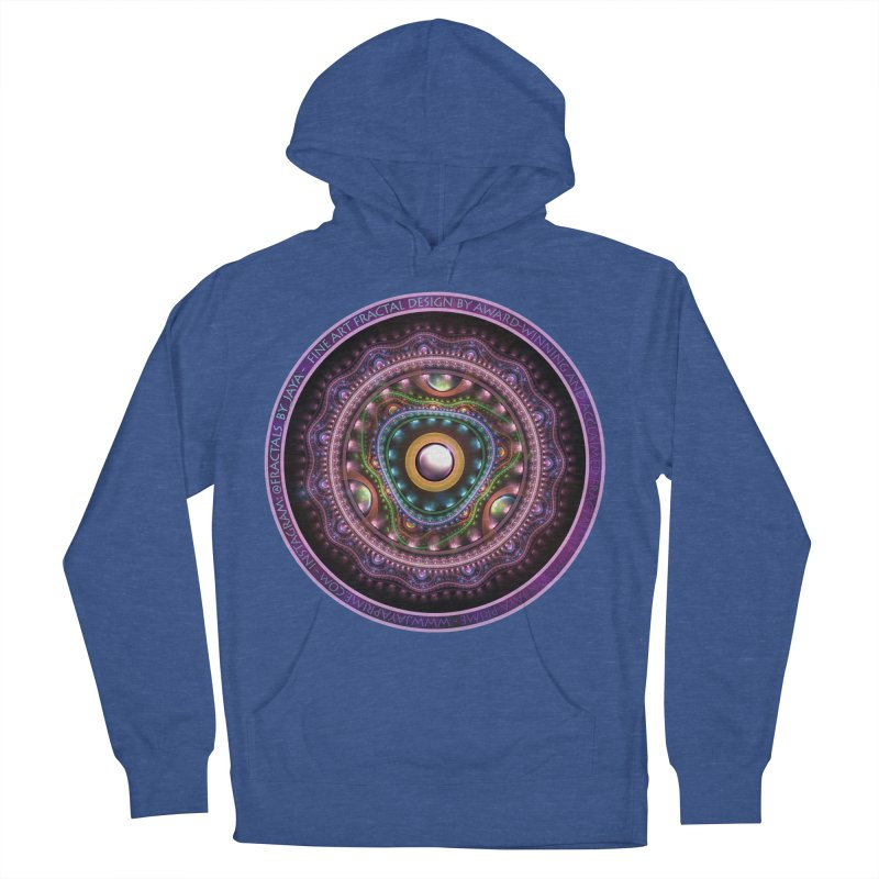 Resplendent Pastel Jewelry in Rainbow Fractals Men's French Terry Pullover Hoody by The Fractal Art of San Jaya Prime