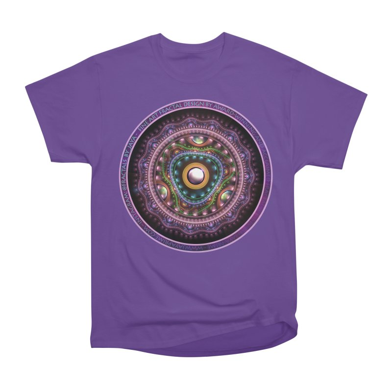 Resplendent Pastel Jewelry in Rainbow Fractals Men's Heavyweight T-Shirt by The Fractal Art of San Jaya Prime