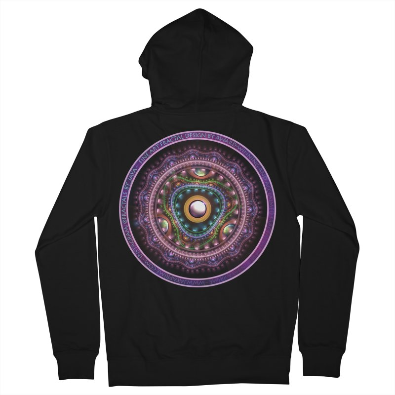 Resplendent Pastel Jewelry in Rainbow Fractals Men's French Terry Zip-Up Hoody by The Fractal Art of San Jaya Prime