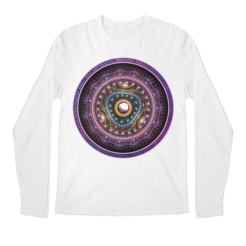 Resplendent Pastel Jewelry in Rainbow Fractals Men's Regular Longsleeve T-Shirt by The Fractal Art of San Jaya Prime