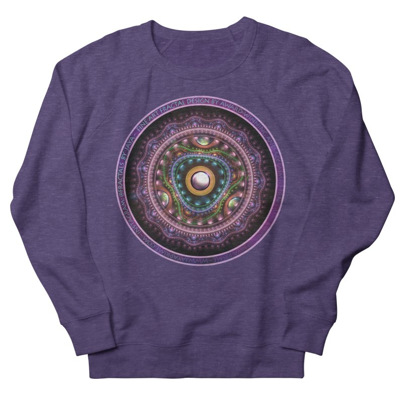 Resplendent Pastel Jewelry in Rainbow Fractals Women's French Terry Sweatshirt by The Fractal Art of San Jaya Prime