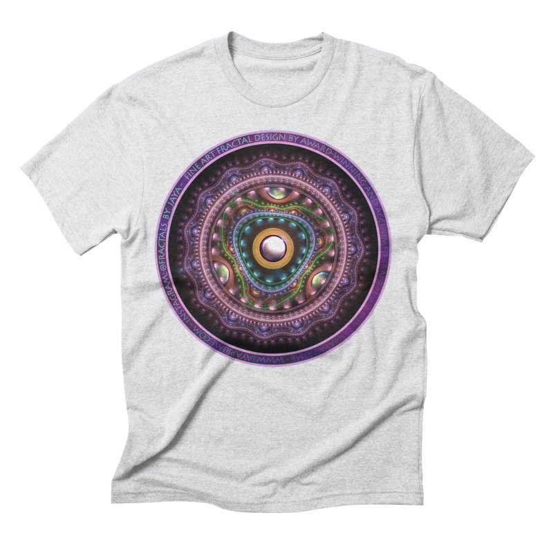 Resplendent Pastel Jewelry in Rainbow Fractals Men's Triblend T-Shirt by The Fractal Art of San Jaya Prime