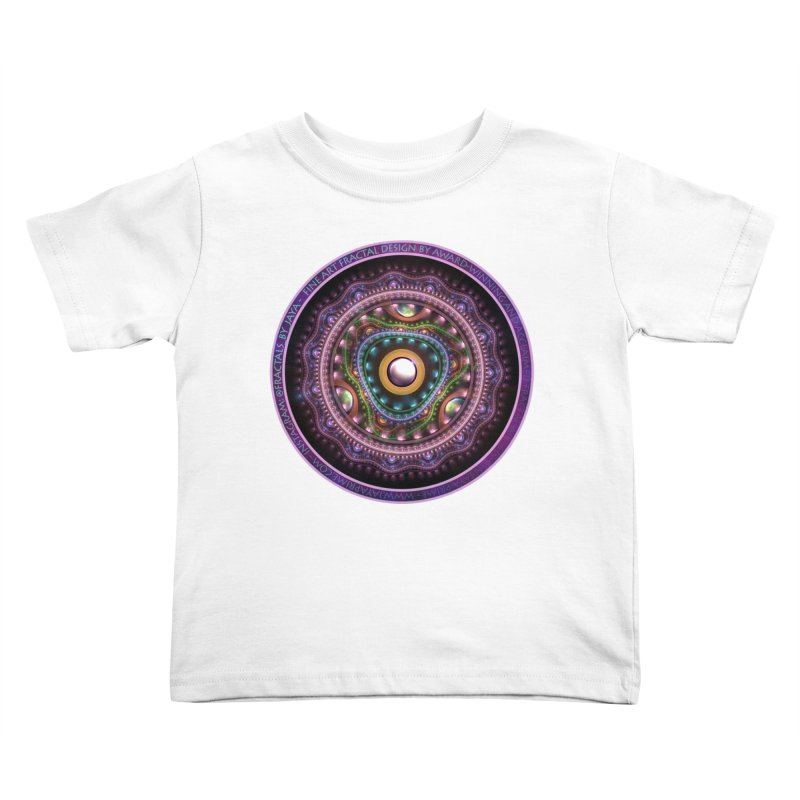 Resplendent Pastel Jewelry in Rainbow Fractals Kids Toddler T-Shirt by The Fractal Art of San Jaya Prime