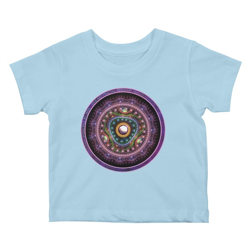 Resplendent Pastel Jewelry in Rainbow Fractals Kids Baby T-Shirt by The Fractal Art of San Jaya Prime