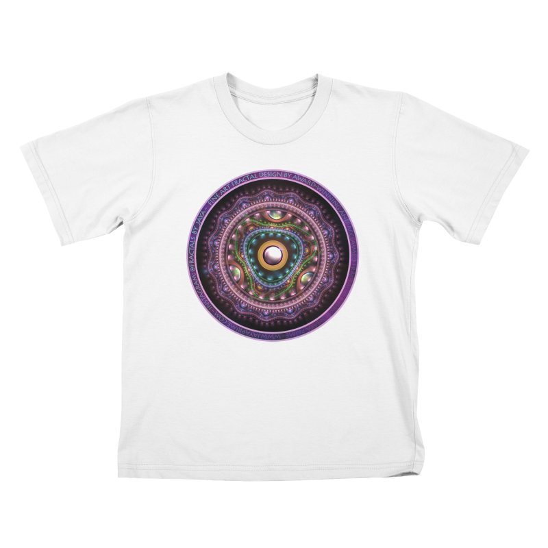 Resplendent Pastel Jewelry in Rainbow Fractals Kids T-Shirt by The Fractal Art of San Jaya Prime