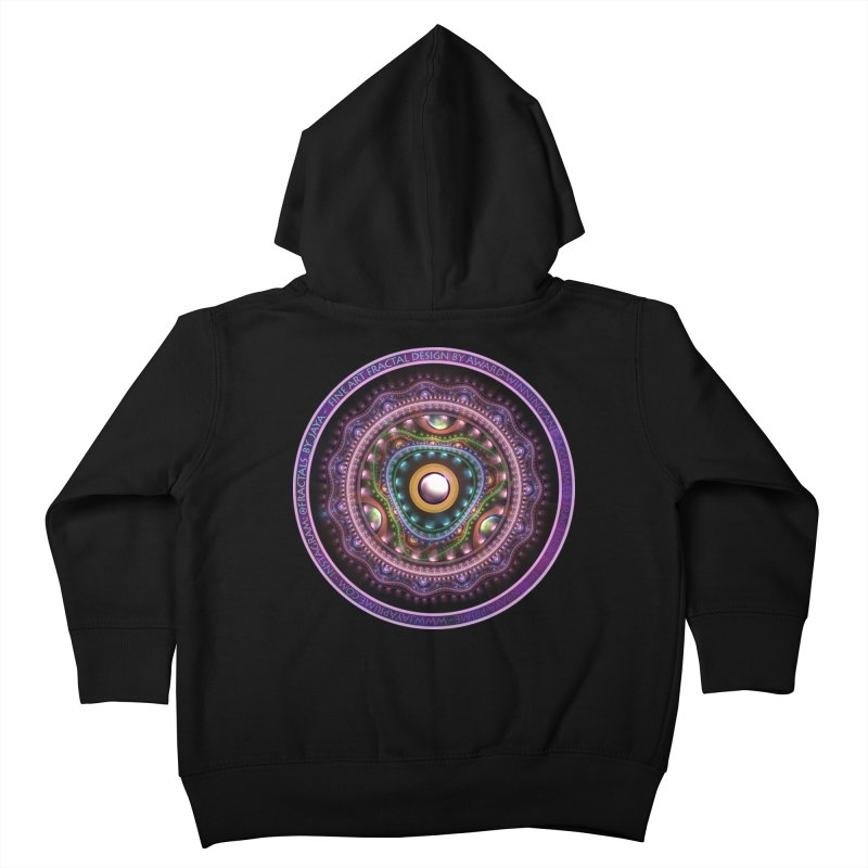 Resplendent Pastel Jewelry in Rainbow Fractals Kids Toddler Zip-Up Hoody by The Fractal Art of San Jaya Prime