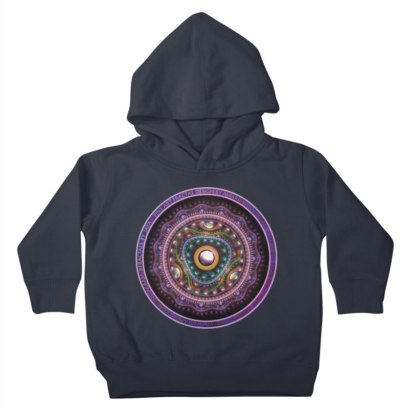 Resplendent Pastel Jewelry in Rainbow Fractals Kids Toddler Pullover Hoody by The Fractal Art of San Jaya Prime