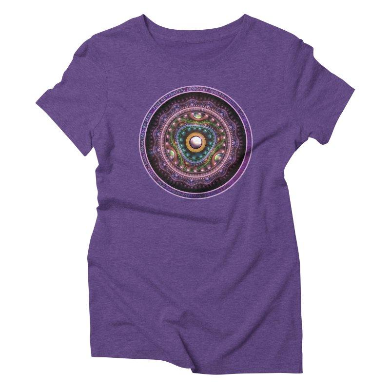 Resplendent Pastel Jewelry in Rainbow Fractals Women's Triblend T-Shirt by The Fractal Art of San Jaya Prime