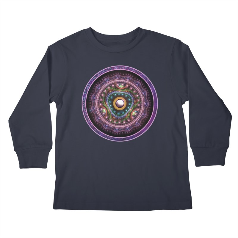 Resplendent Pastel Jewelry in Rainbow Fractals Kids Longsleeve T-Shirt by The Fractal Art of San Jaya Prime
