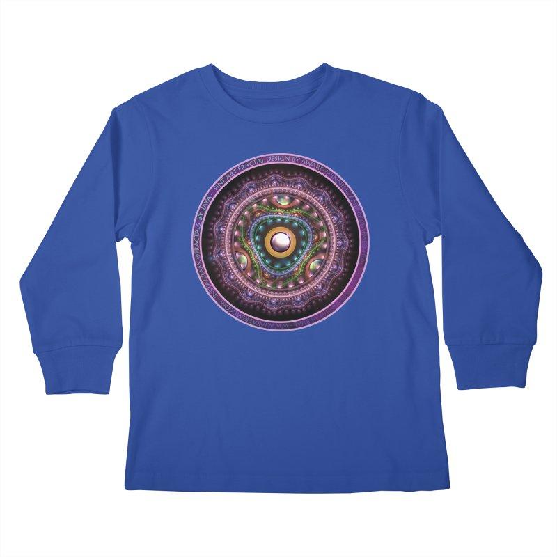 Resplendent Pastel Jewelry in Rainbow Fractals Kids Longsleeve T-Shirt by The Fractal Art of San Jaya Prime