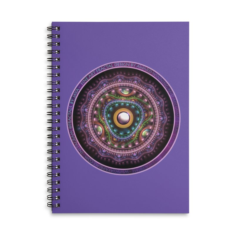 Resplendent Pastel Jewelry in Rainbow Fractals Accessories Lined Spiral Notebook by The Fractal Art of San Jaya Prime