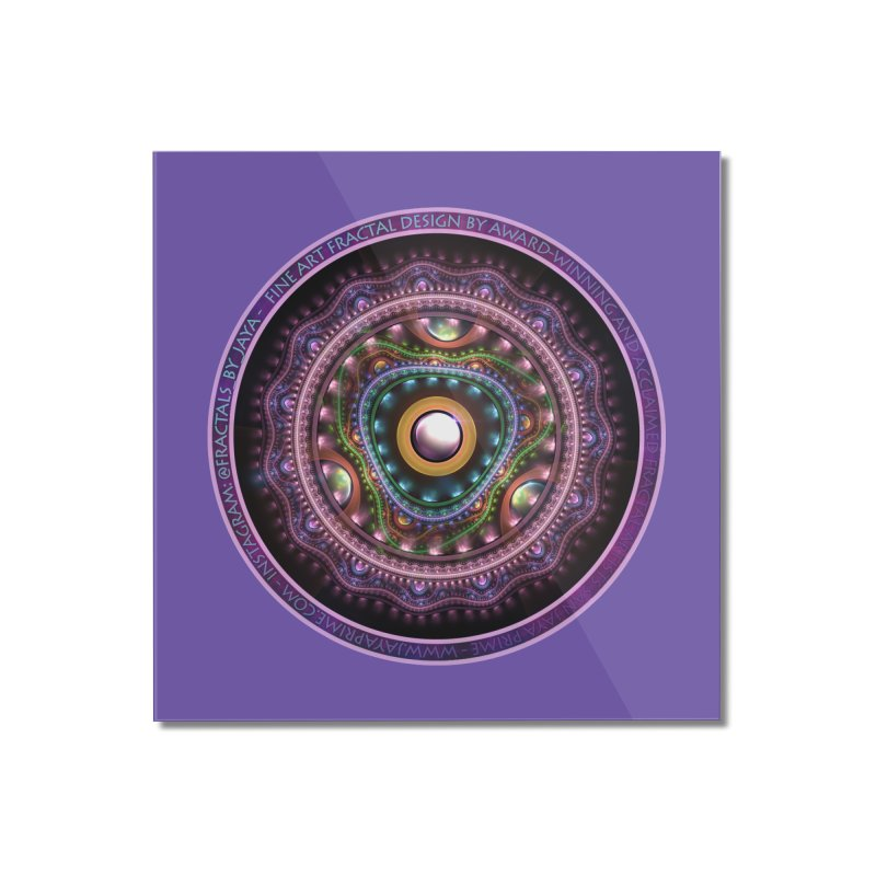 Resplendent Pastel Jewelry in Rainbow Fractals Home Mounted Acrylic Print by The Fractal Art of San Jaya Prime