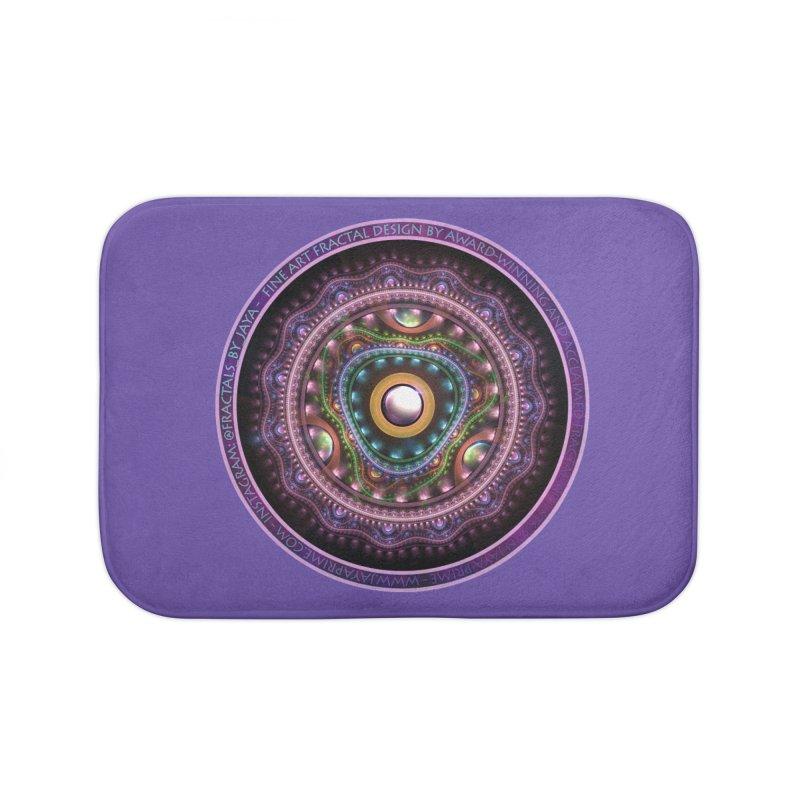 Resplendent Pastel Jewelry in Rainbow Fractals Home Bath Mat by The Fractal Art of San Jaya Prime
