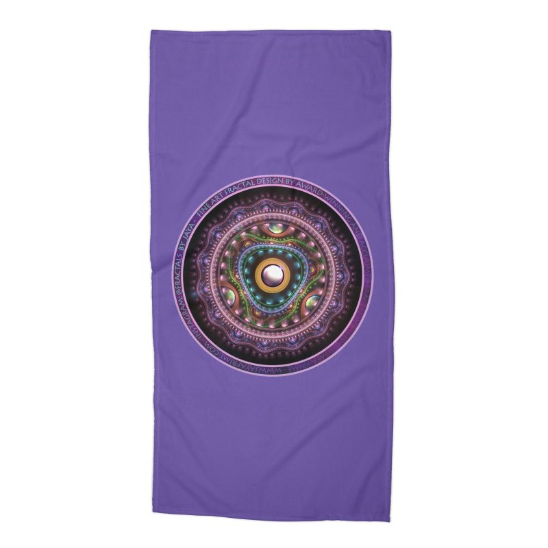 Resplendent Pastel Jewelry in Rainbow Fractals Accessories Beach Towel by The Fractal Art of San Jaya Prime