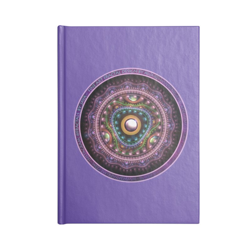 Resplendent Pastel Jewelry in Rainbow Fractals Accessories Notebook by The Fractal Art of San Jaya Prime