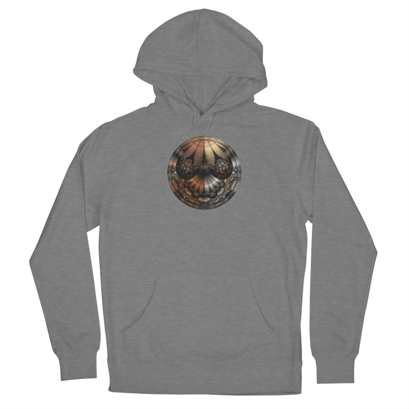 Autumn Fractal Pheasant Feathers in DaVinci Style Women's Pullover Hoody by The Fractal Art of San Jaya Prime
